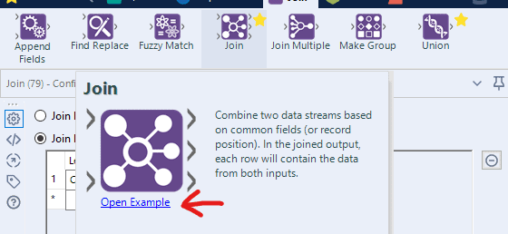 Tooltip showing the One tool example from the tool pallet